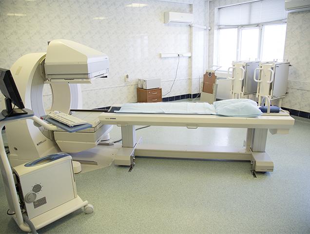 В отделение радионуклидной диагностики установлена аппаратура полностью соответствующая требованиям качественной диагностики